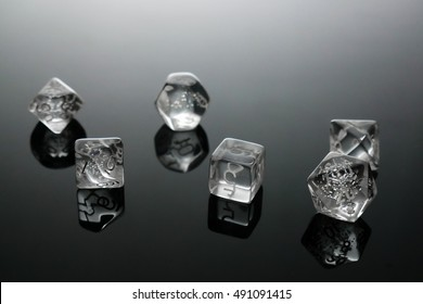 Glass role playing dices