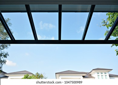 glass roof awning background