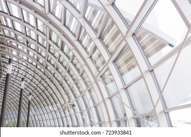 Glass roof dome provides light through, heat dissipation.