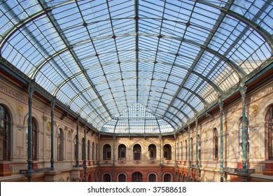 Glass roof of the fine arts school in Paris