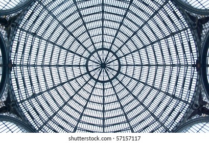 glass roof of the Galleria Umberto I in Napoli, Italy
