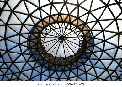Glass roof of a hothouse