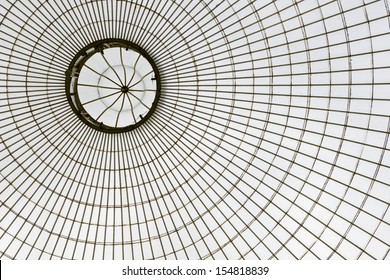 glass roof of Kibble Palace, Glasgow Botanical Gardens, Scotland, UK