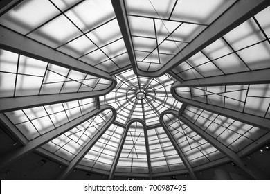 Glass rooftop at Guggenheim Museum New York City