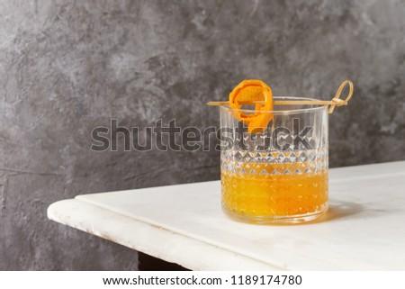 Glass Scotch Whiskey Orange Juice Alcohol Stock Photo (Edit