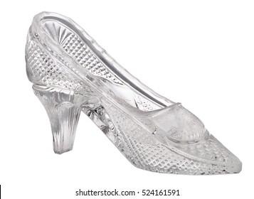 glass shoe isolated on white background