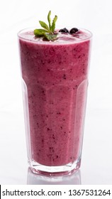 glass of smoothie on a white background