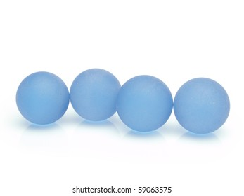 Glass spheres isolated on white.