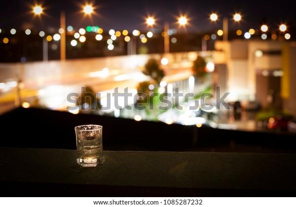 Glass Spirit On Balcony Terrace Veranda Stock Photo (Edit Now