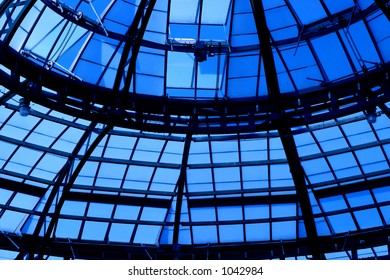 Glass and steal beams