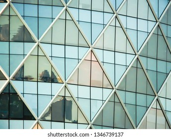 Glass structure of tall buildings.