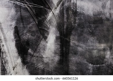 The glass surface is smeared with white paint. Interesting, unusual, attractive abstraction. Background