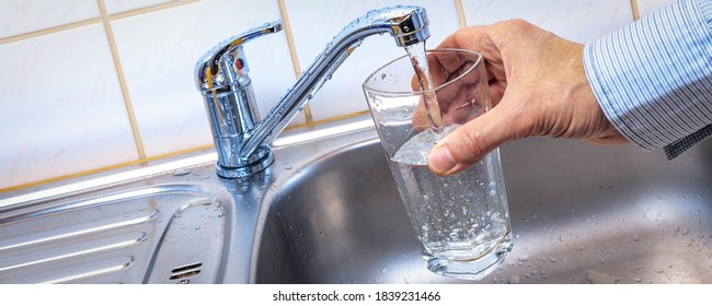 glass with  tap water  in modern science lab - Shutterstock ID 1839231466