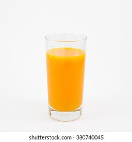 The glass of tasty pure orange juice for a good day.