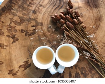The glass of tea