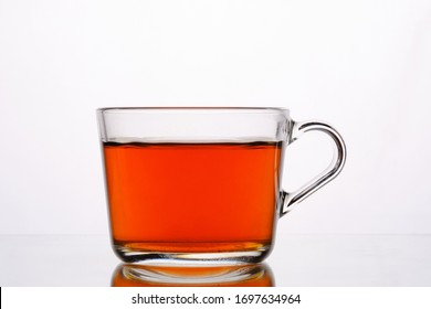 glass transparent Cup with black tea