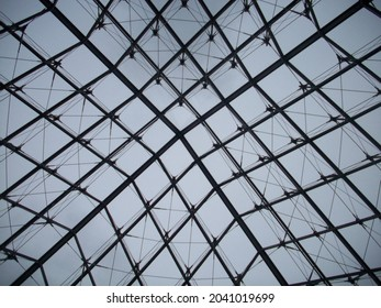 The glass triangle of the Louvre