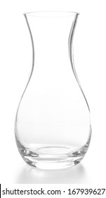 Glass vase, isolated on white