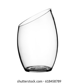 Glass vase, on a  isolated white background.