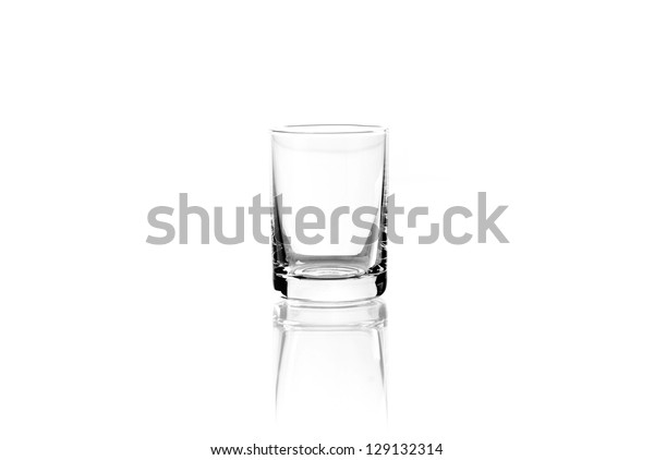 Glass of vodka isolated on a white background. Path
