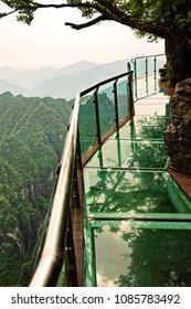 Glass Walkway on top of Tianmen Mountain, Tianmen Mountain National Forest Park, Hunan Province, China