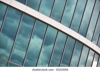 Glass wall of an office building