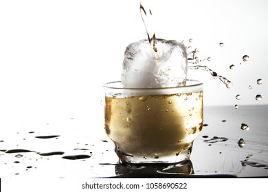 Glass of water as background / drinks include plain water, milk, juices, coffee, tea, and soft drinks. In addition, alcoholic drinks such as wine, beer, and liquor