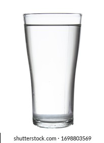 glass water isolated on white background clipping path