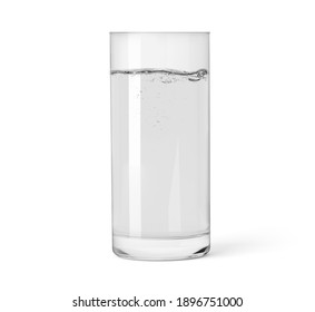 glass of water isolated on white background with clipping path