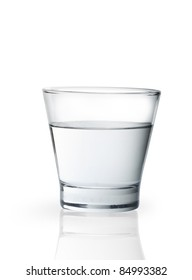 Glass of water  isolated on white background