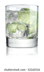 Glass of water with slice of lime
