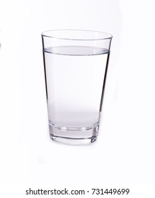 glass of water white background