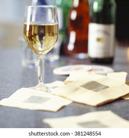 Glass of White wine at cocktail party