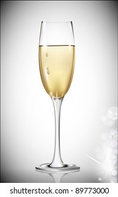 a glass of white wine on a gray background (JPEG version)