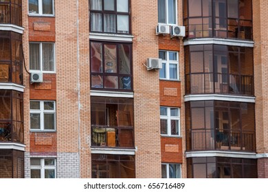 glass Windows in the high building