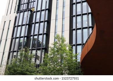 Glass windows from a skyscraper