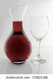 Glass Wine Carafe shot on a White Background