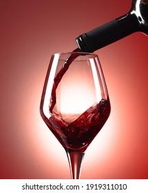 a glass of wine half full