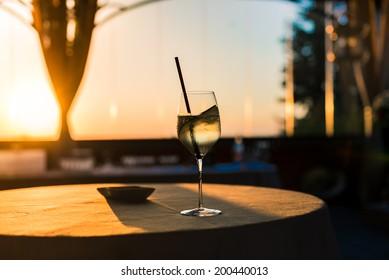 Glass of wine Sunlight