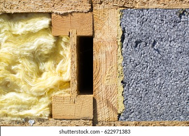 Glass wool and polystyrene for warming the walls of the house
