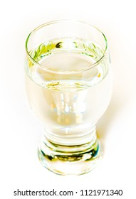 glass of yellow drink