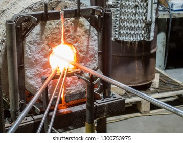 Glassblowing Furnace with Pipes