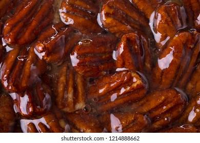 Glassed pecan nuts