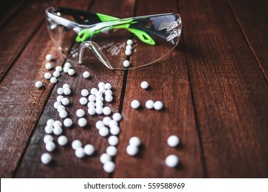 glasses with airsoft balls