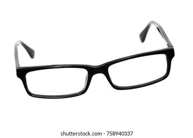 Glasses. Black eye glasses Isolated on white background.