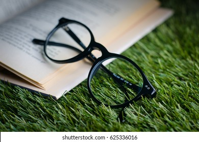 Glasses Book Reading Time Study Read