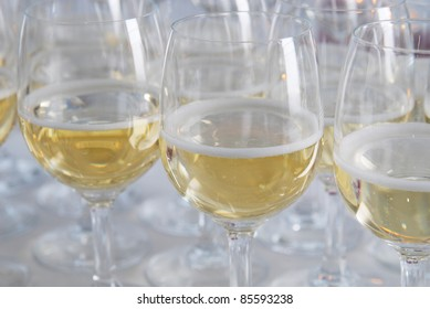 Glasses of champagne, for wedding toast
