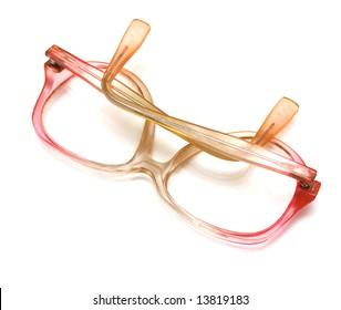 Glasses correcting sight on white. Isolated.