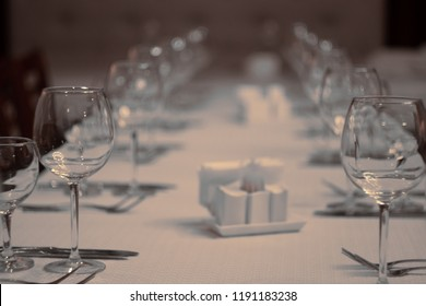 Glasses and cutlery