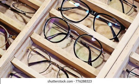 glasses displayed on the market